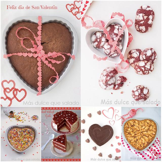 Recetas dulces para San Valentín.
