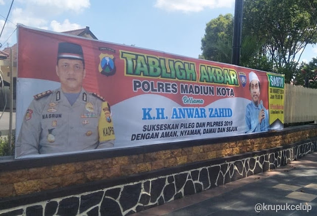 Polres Madiun Kota Gelar Tablig Akbar Bersama Kh.Anwar Zahid