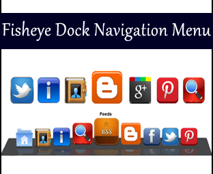 If y'all are the diehard fan of Mac operating organisation CSS3 Fisheye Dock Navigation Menu For Blogger