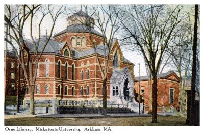 Miskatonic+University+Orne+Library+Postcard+Front
