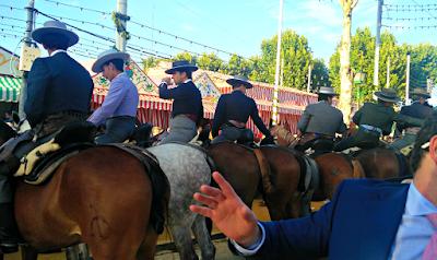 Horses in Feria de Abril