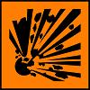 simbol bahan kimia berbahaya Explosive (Mudah Meledak)