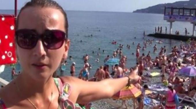 """Україна, тільки мовчки заздріть … Дивіться, що відбувається на Кримських пляжах. справжній """"АЖІОТАЖ"""""""