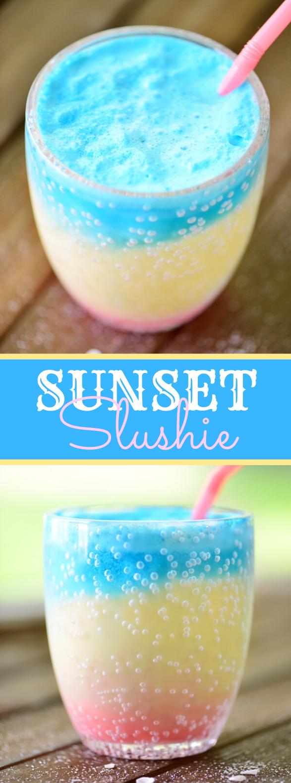 Sunset Slushie Recipe #drinks #kidfriendly