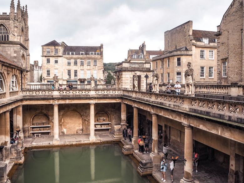 A visit to Roman baths, Bath- the Great Bath