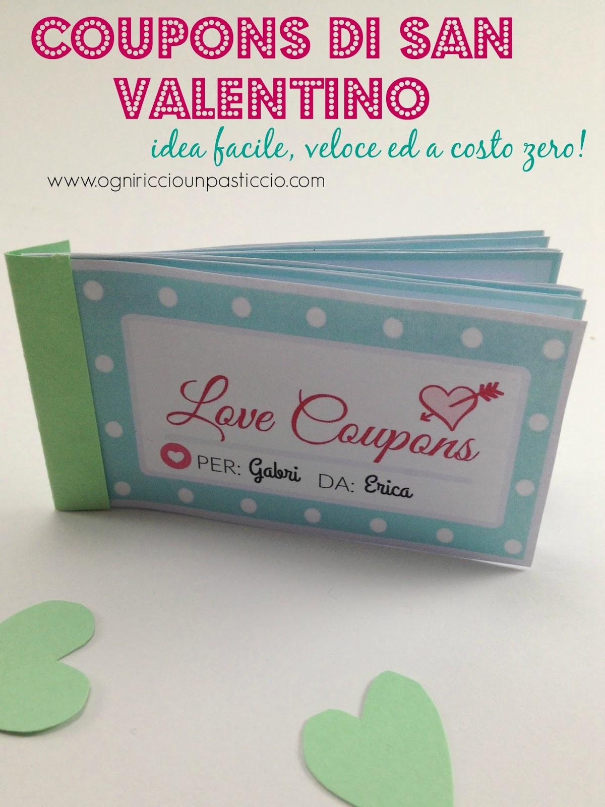 Ogni riccio un pasticcio blog di cucina love coupons for Idea per regalo