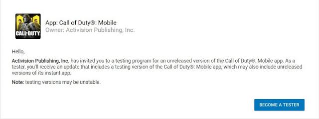 Cara Daftar Call of Duty Mobile Global Beta dari Google Play Store 2