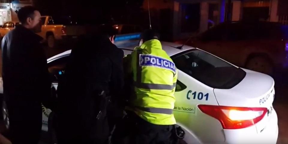 Delincuente detenido se resistio a los golpes