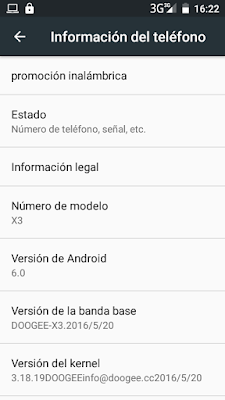 Doogee X3 actualizado a Android 6.0