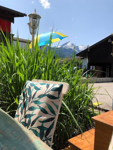Alpspitzblick, Terrasse, Bergblick, Garmisch-Partenkirchen, Outdoor-Bereich, Patio, 4Eck, Restaurant, Restaurantterrasse, Bergpanorama, Alpspitzblick