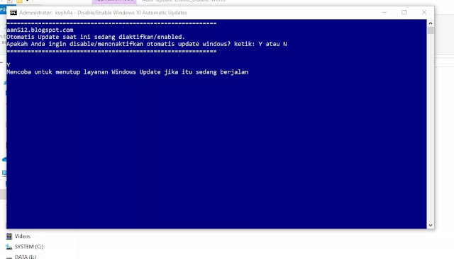Cara Mudah Menon-Aktifkan Update Windows 10