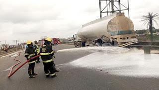 Petrol Tanker, Truck Collide On Lagos-Ibadan Expressway