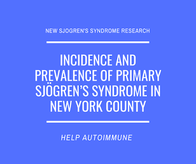 Incidence and prevalence of primary Sjögren's syndrome in New York County