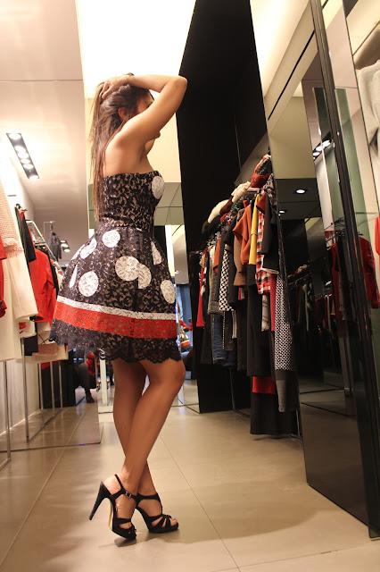 lace dress mangano