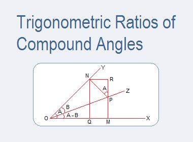 Trigonometric Ratios of Compound Angles
