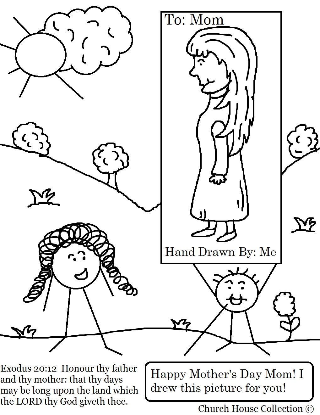 Church House Collection Blog: Mother's Day Coloring Page