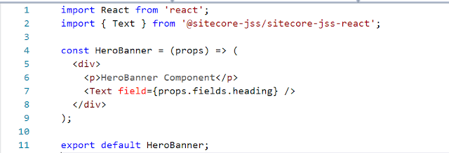 Sitecore JSS create your first component