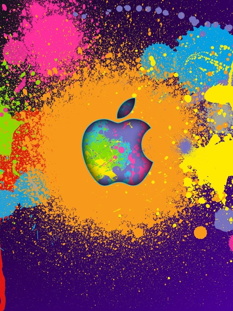 colorful apple logo | ipad mini wallpapers