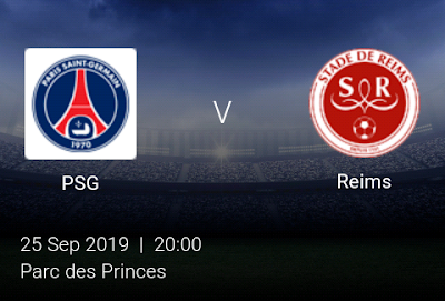 LIVE MATCH: PSG Vs Reims French Ligue 1 25/09/2019