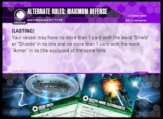 Environment Card: Alternate Rules: Maximum Defense
