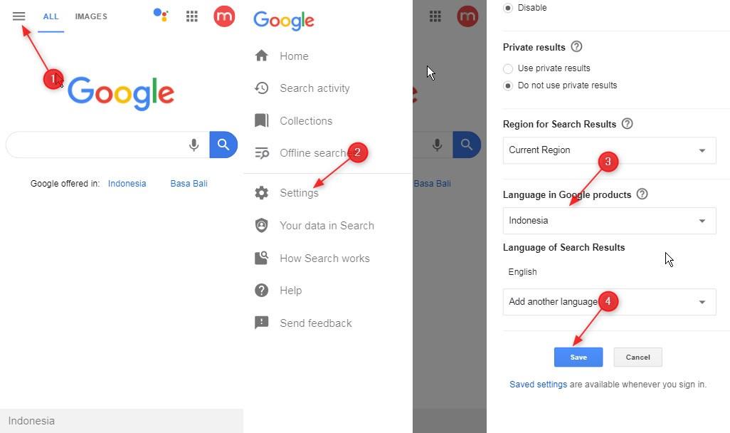 Cara Mengubah bahasa Google chrome android ke bahasa indonesia