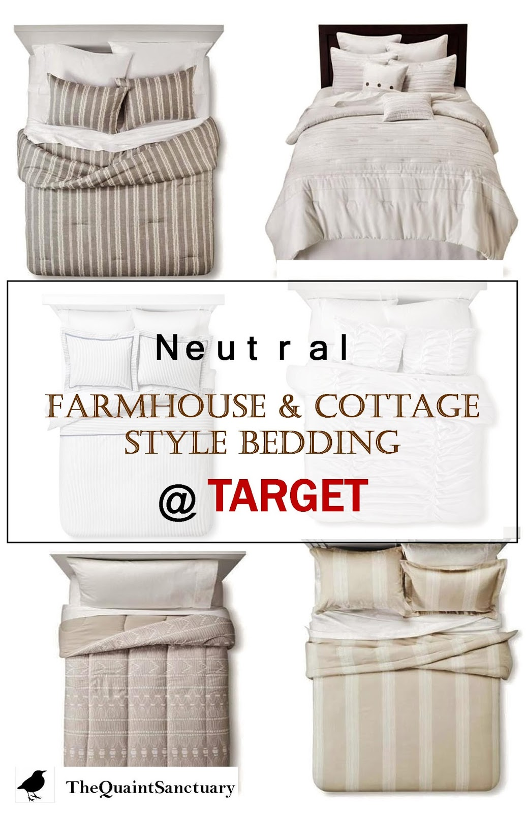 The quaint sanctuary neutral farmhouse cottage style for Farmhouse cottage style