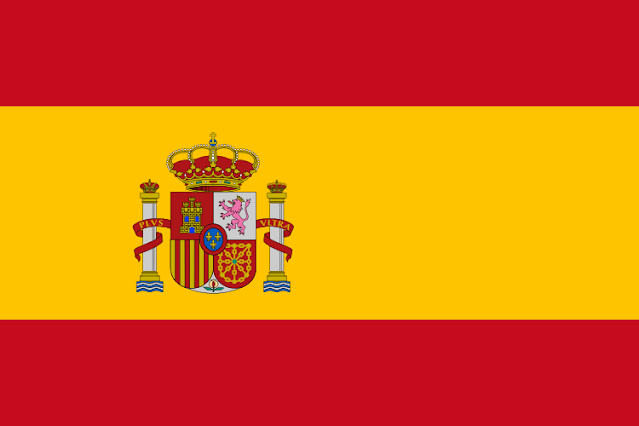 Você pode ver a bandeira espanhola aqui
