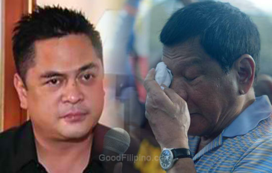 Sec. Martin Andanar cries while reading Duterte's speech for SONA 2016