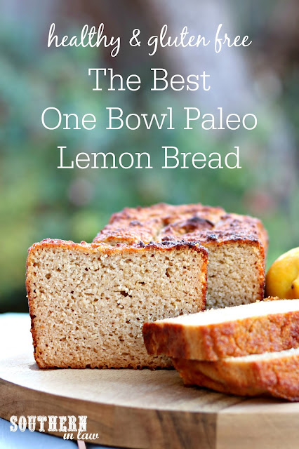The Best Healthy Paleo Lemon Bread Recipe – easy, one bowl recipe, gluten free, grain free, paleo, dairy free, refined sugar free, almond flour, coconut flour