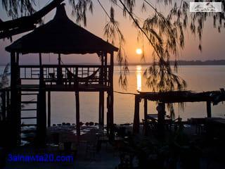 بحيرة ريتبا في السنغال The Lake Retba