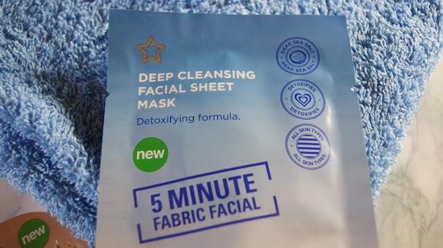 Superdrug Deep Cleansing 5-Minute Facial Sheet Mask