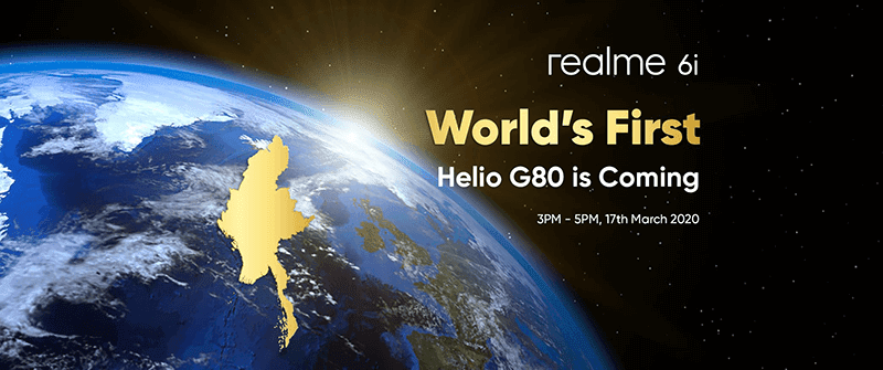 Realme 6i will be the world's first Helio G80 phone, to launch on March 17