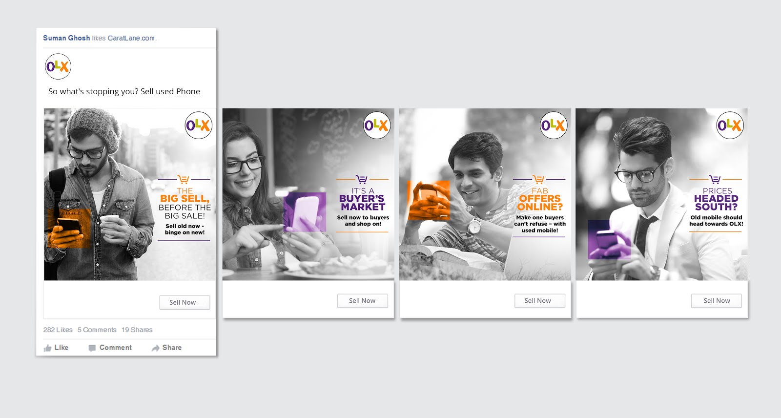 Creative Work: OLX mailers, post and MPa