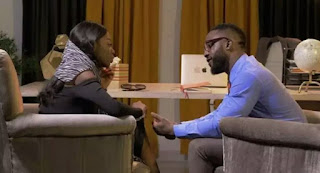 Nigerians React As BBNaija, Diane Kisses Iyanya