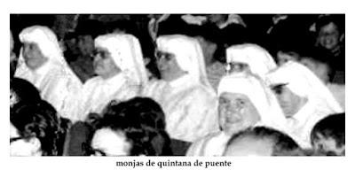 Fotografía de unas monjas del internando de la Colonia Infantil General Varela en Quintana del Puente, Palencia.