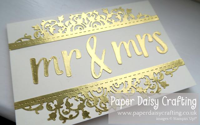 Well written mr & mrs wedding card Stampin Up