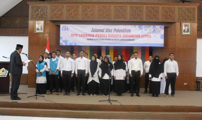 DPP LPD Indonesia, Kukuhkan DPD LPD Kota Lhokseumawe dan Aceh Utara