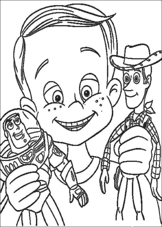 Disney Animation Coloring Pages : Toy Story Cartoon