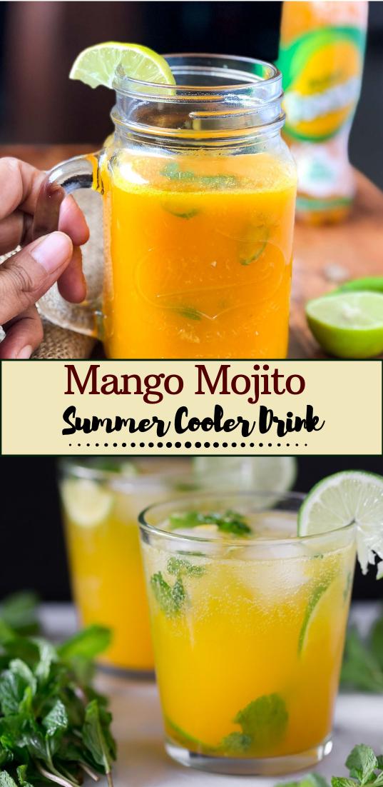 Mango Mojito (Non-Alcoholic)  #healthydrink #easyrecipe #cocktail #smoothie