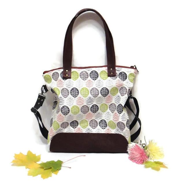 Женская сумка тоут: хлопок канвас и натуральная кожа. В одном экземпляре, ручная работа. Готова к отправке