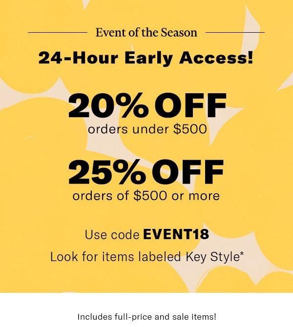 Shopbop spring '18 sale