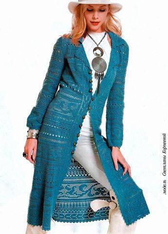 Patrón #1871: Como tejer gabardina a crochet