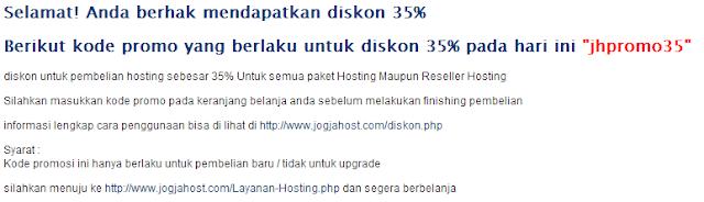 Diskon 35% Web Hosting Lokal