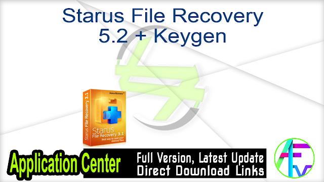 Starus File Recovery 5.2 + Keygen
