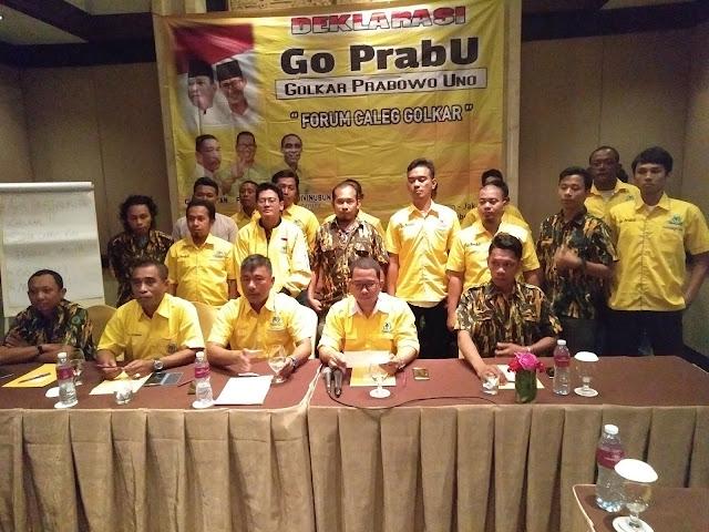 Kecewa Dukung Jokowi, Sejumlah Caleg Golkar Alihkan Dukungan ke Prabowo