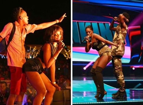 Tiwa And Seyi Shay seem to love grinding against Patoranking