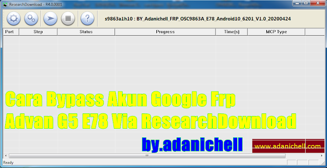 Cara Bypass Akun Google Frp Advan G5 E78 Via ResearchDownload