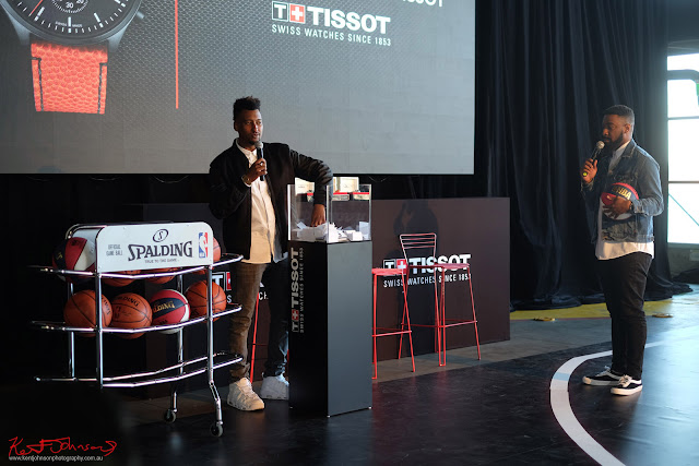 Picking the ticket to win a Tissot watch - TISSOT NBA Finals Party Sydney - Photography by Kent Johnson.