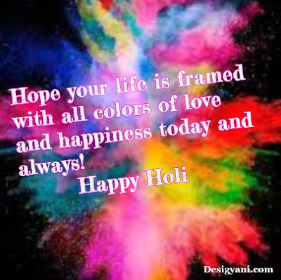 Life is framed, Happy holi