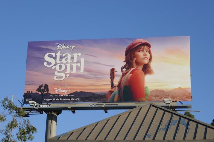 Disney Stargirl film billboard
